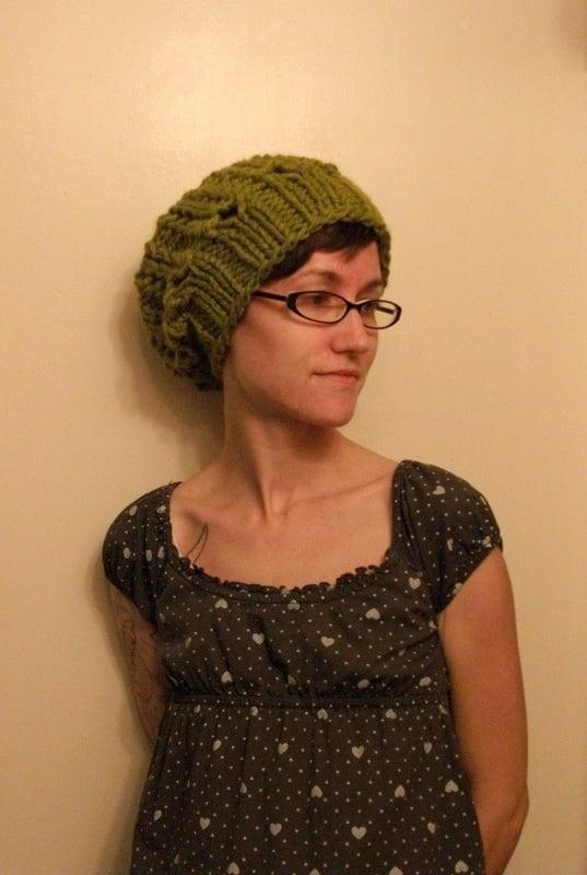 Knitting Pattern Pdf Instant Download Super Bulky Yarn Hat
