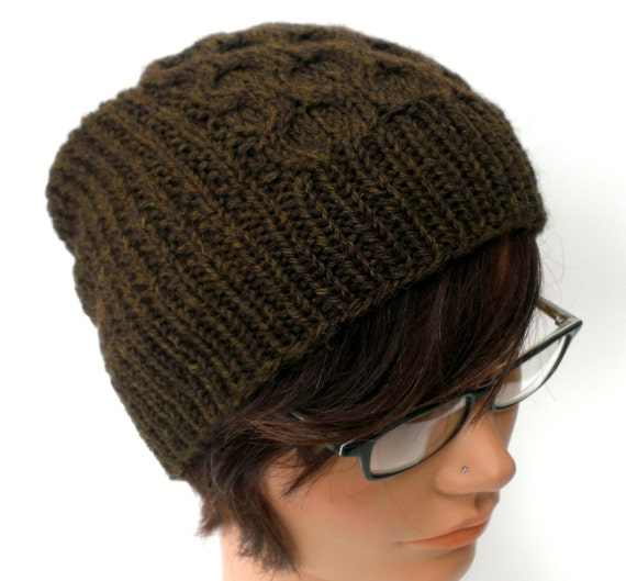 KNITTING PATTERN // PDF instant download // worsted weight yarn beanie / toque with cables // Keaton