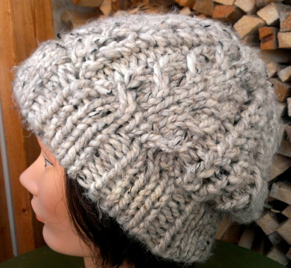 KNITTING PATTERN // PDF instant download // Super bulky yarn hat with cables // Jubella