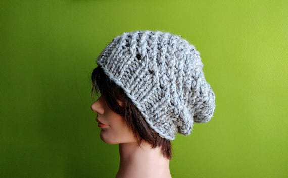 KNITTING PATTERN // PDF instant download // Super bulky yarn lacy hat // Layne