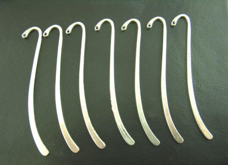 15pcs Wholesale Silver Bookmark Blanks  Metal Bookmarks  image 1