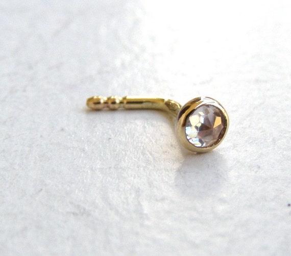 Fine Gold Nose Stud Nose Ring 14k Solid Gold Nose Ring Etsy