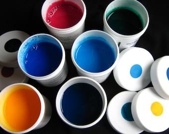 Ready-mixed Marbling Paint - Hand-mixed Acrylic Paint Set of 6 Colors - Basic Set II Marbleizing Floating Paint