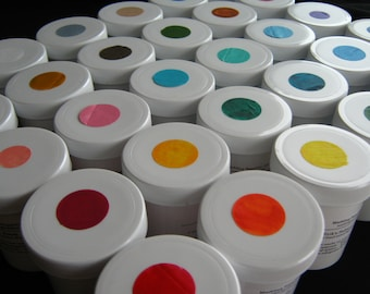 Complete Set 3 fl. oz. Jars Ready-made Marbling Paint - Acrylic 30 Jars DIY Marbleizing Paper Fabric Marbling With Instructions