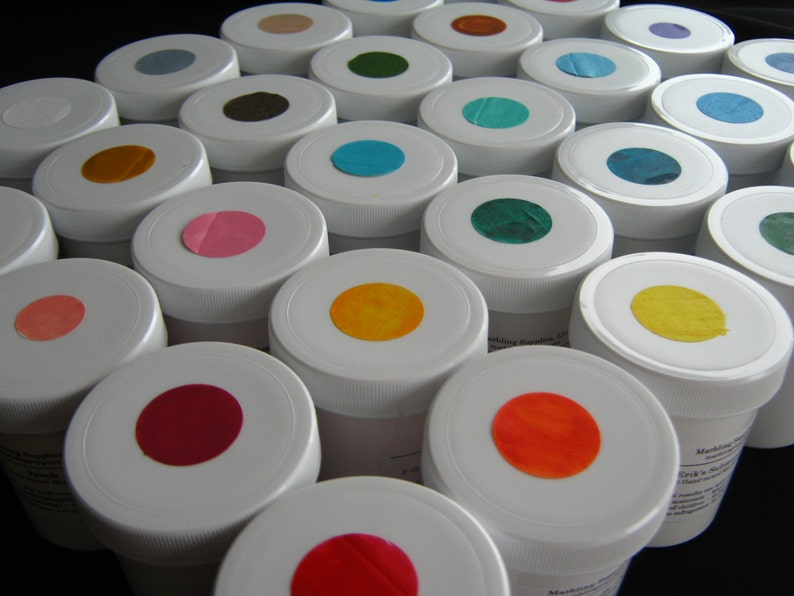Complete Set 3 fl. oz. Jars Ready-made Marbling Paint  image 0
