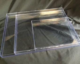 "18 x 24"" Clear Acrylic Plastic Marbling Tray"