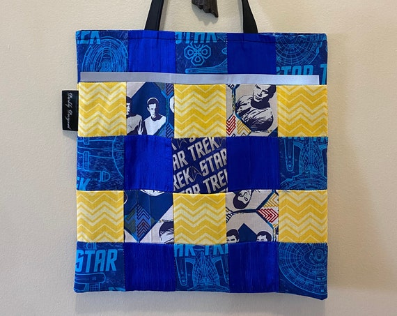 Star Trek Reflective Quilted Tote Bag