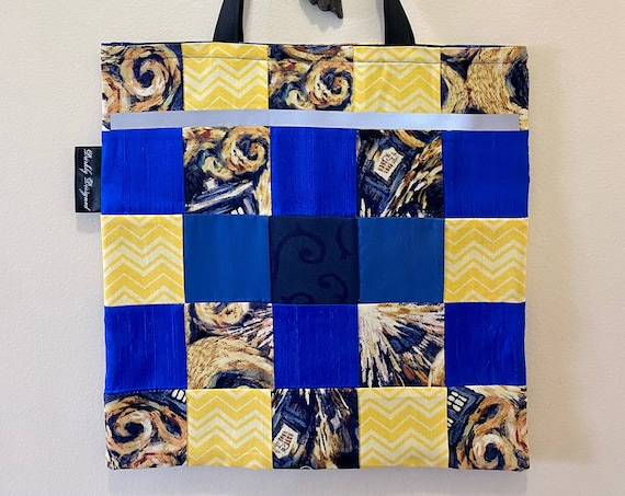 Doctor Who Reflective Quilted Tote Bag