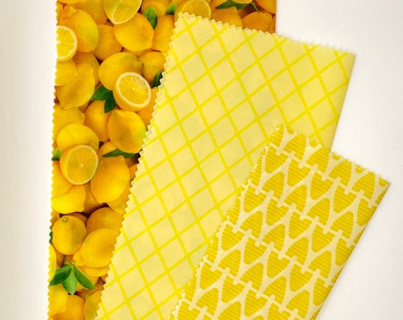 Beeswax Wrap Bundle - Lemon & Honey