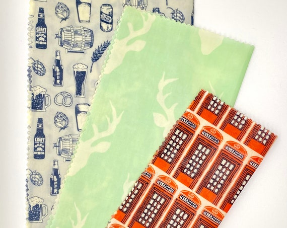 Beeswax Wrap Bundle - Let's Go To The Pub!