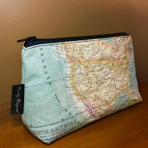 Nautical Map Toiletries Bag