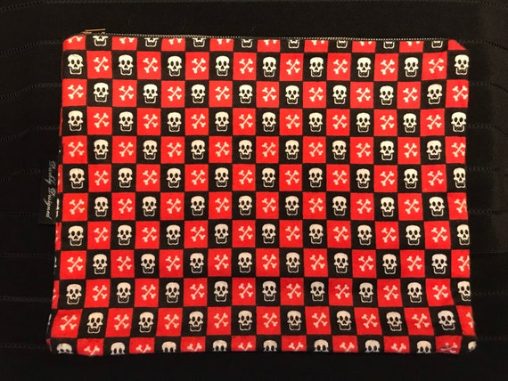Skull & Crossbones Zippered Bag