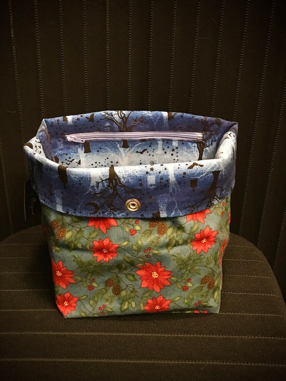 Christmas & Halloween Reversible Project Bag