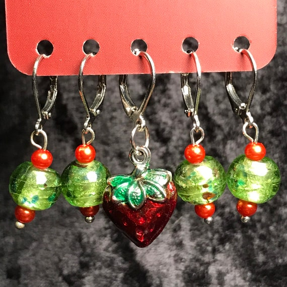 Strawberry Stitch Markers