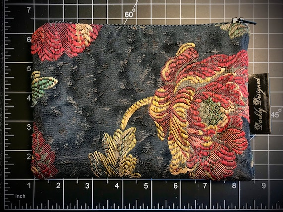 Tapestry Floral Zippered Bag