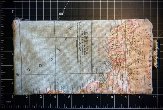 Map Zippered Bag