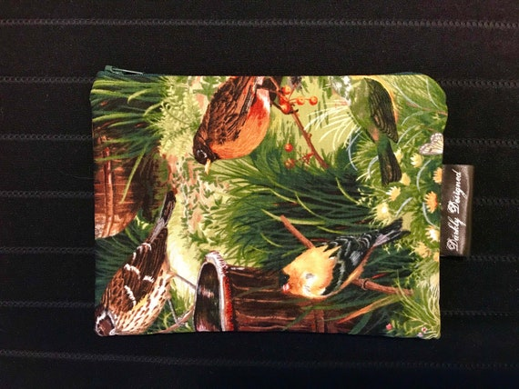 Birds in the Garden Zippered Bag