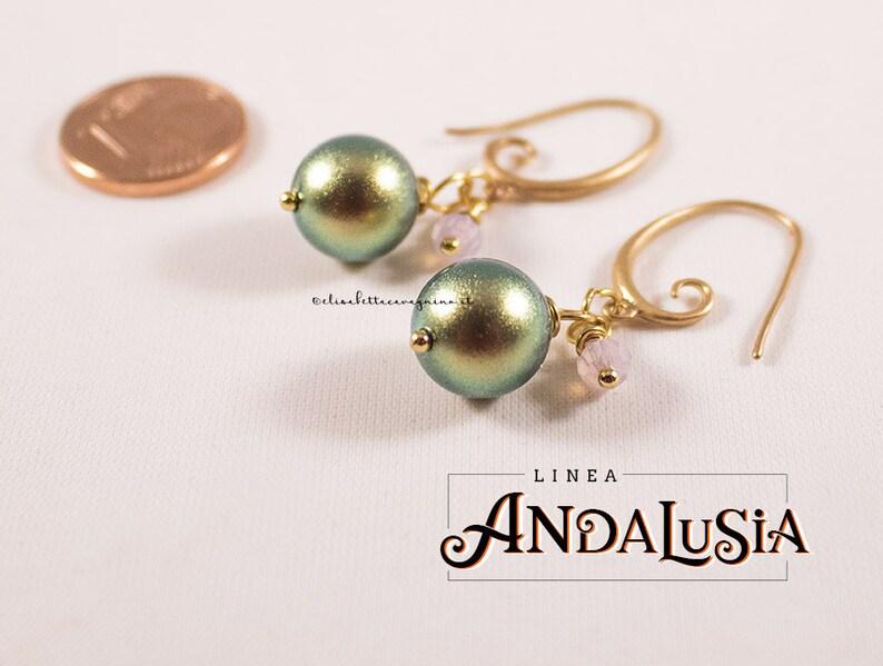 8741e80b29be Luz pendiente oro bisutería dingle cristal de Swarovski