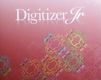Janome Digitizer Jr. Version 4.5 Software with Dongle key Embroidery Very powerful windows only