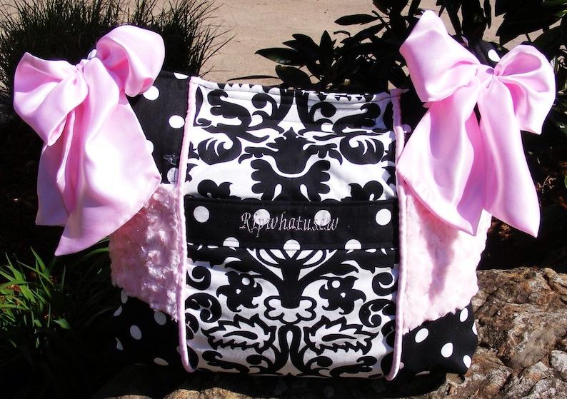 Large Diaper Bag Baby Girl Custom Made Chic Whimsical Overnight Messenger shoulder bag travel tote laptop gym dance cheerleading bag NICE