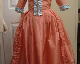 Girl's Silk Taffeta Colonial Dress size 5