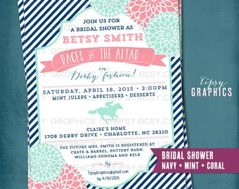 Derby bridal shower etsy more colors kentucky derby birthday or shower party invitation filmwisefo