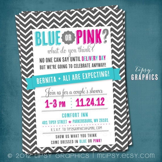 Blue or pink what do you think chevron delivery day surprise baby il570xn filmwisefo