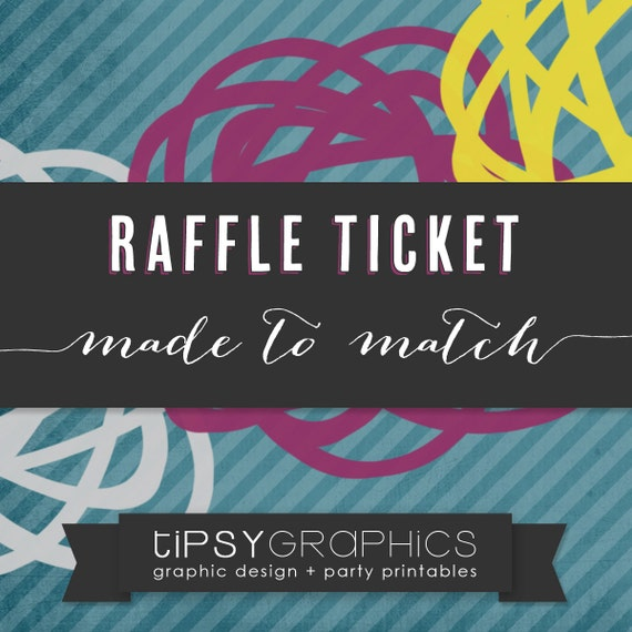 raffle ticket printable add on made to match any tipsy etsy