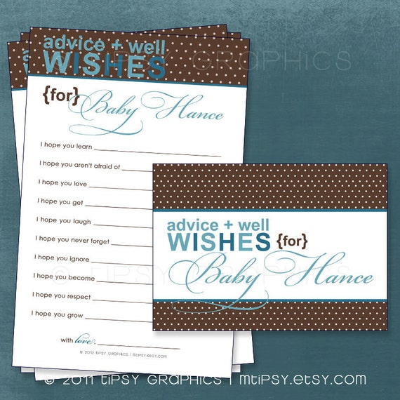 blue aqua teal brown polka dots sweet well wishes for the new