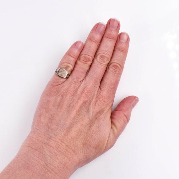 "Antique 14k Victorian Signet Ring ""CAA"", Antique,… - image 6"