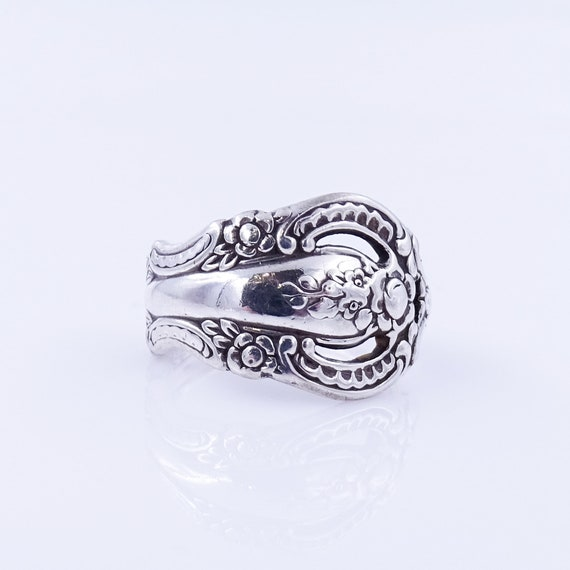 Silver Spoon Ring - Vintage Ring, Sterling Silver