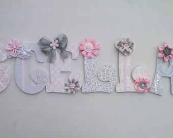 Custom Nursery Wall Letters, Decorative Wall Letters, Nursery Decor