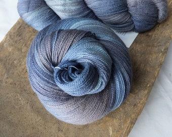 Cowboy Skies - Hand Dyed 50/50 Merino Silk Lace Yarn