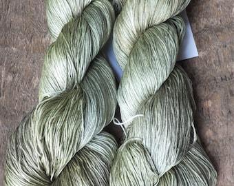 Lemongrass - Hand Dyed 100% Silk HEAVY LACE Yarn