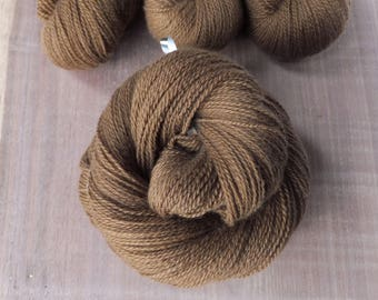 Naturally Dyed with Walnut - 100% Hand Dyed Cashmere Lace Yarn