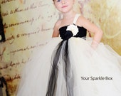 tutu dress flower girl flowers headbands by YourSparkleBox