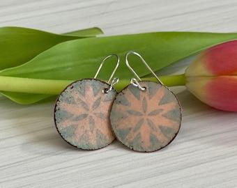 Boho Earrings, Disc Earrings, Round Earrings, Friendship Gift, Gift for Friend