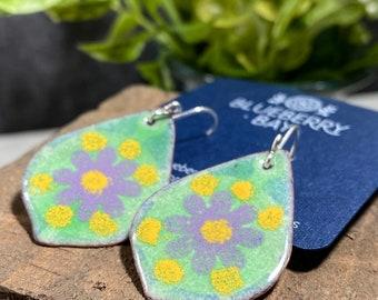 Boho Teardrop Earrings, Bohemian Earrings, Hippie Earrings, Enameled Earrings, Handmade Earrings, Gift For Friend