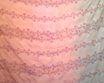 Dusty Pink with Purple Embroidered Silk Cotton Yardage