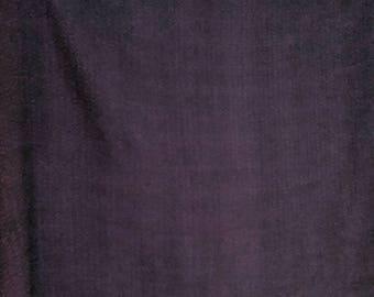 Silk matelasse yardage, purple, hand dyed original