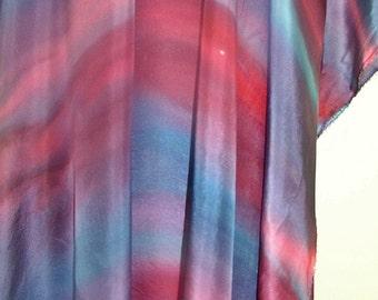 Blue Red Pink Silk Belly Dance Veil or Yardage