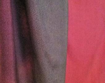 Silk cloque fabric yardage, purple, magenta, grey, hand dyed