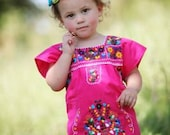 Baby Girls Mexican Dress with Embroidery