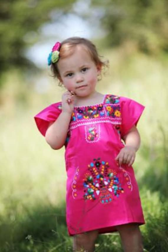 baby girls mexican dress with embroidery  etsy