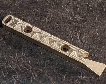 Brass Wave Pattern Pry Bar