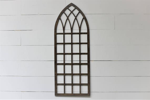 Vintage Inspired Tall Skinny 45x17 Pointed Wooden Arch Window | Etsy