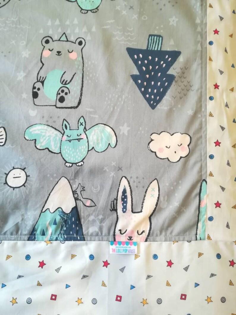 Toddler blanket  Quilt Cover  Kids blanket  Flannel Blanket image 0
