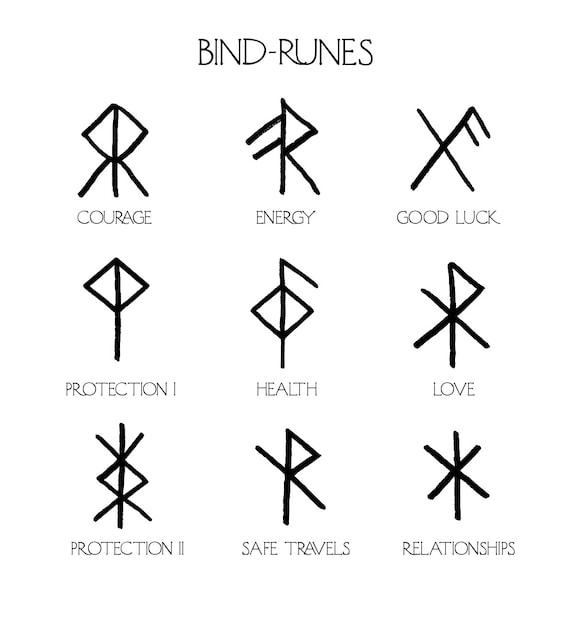 Nornir Bind Rune Totem Bespoke Fine Silver Bindrune Etsy