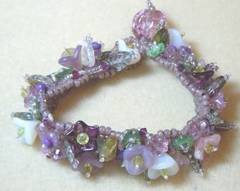 PATTERN Garden of Flowers Peyote Bracelet