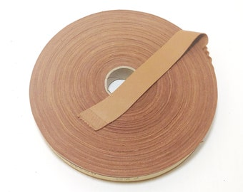 0375NLD trim tape; edge binding; leather tape 5 yds Genuine Lamb Leather 38 Flat Red Lace Binding